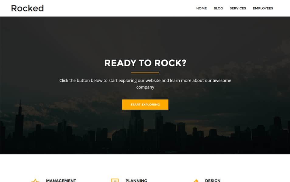 Rocked Responsive WordPress Theme