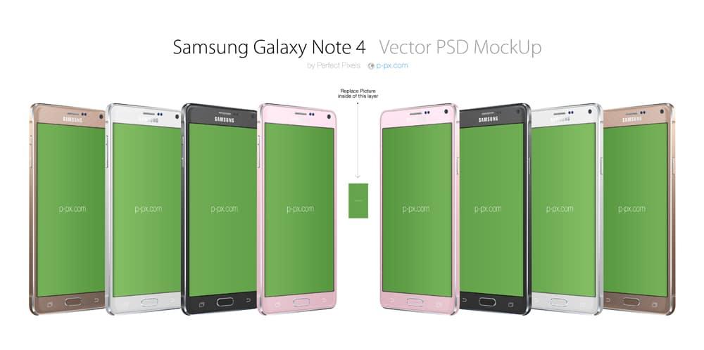 Samsung Galaxy Note Mockup PSD