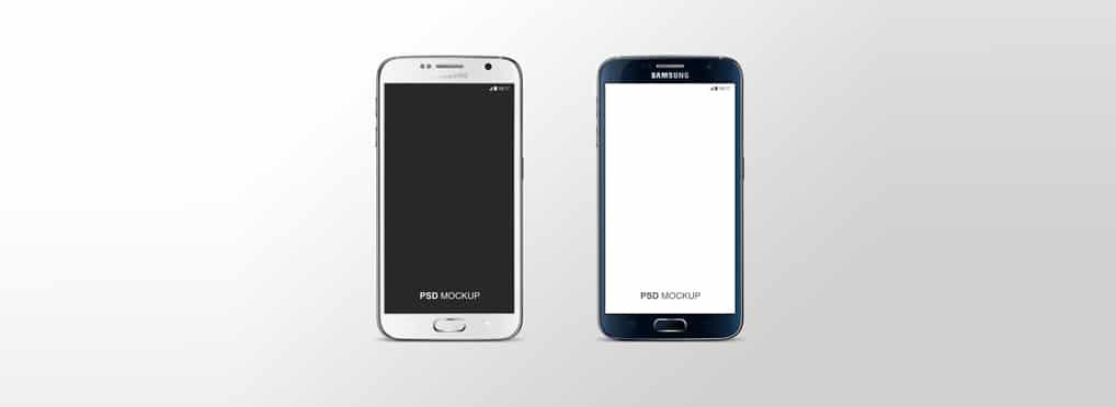 Samsung Galaxy S6 Mockup PSD