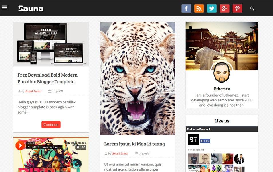 Sauna Grid Responsive Blogger Template