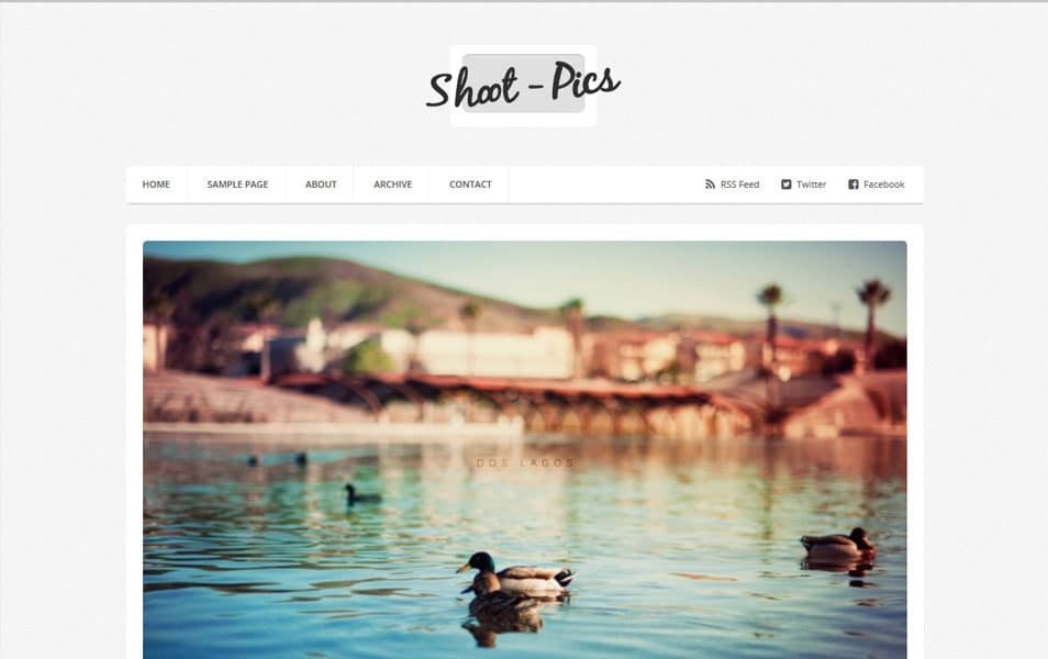 Shoot-Pics Photography Blogger Template