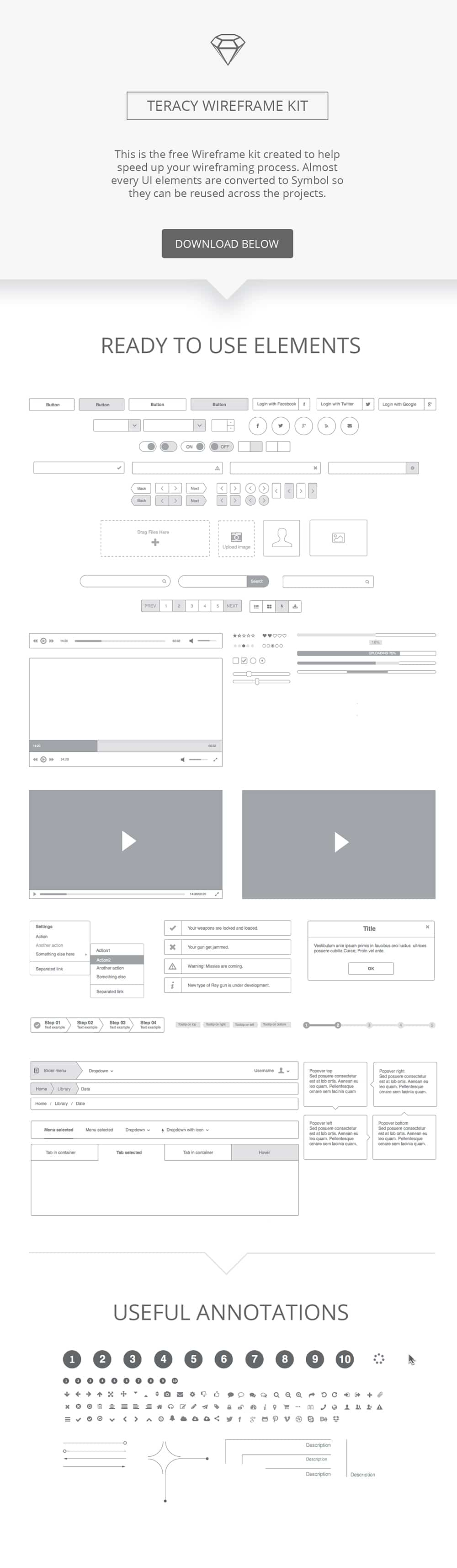 Teracy-Wireframe-kit