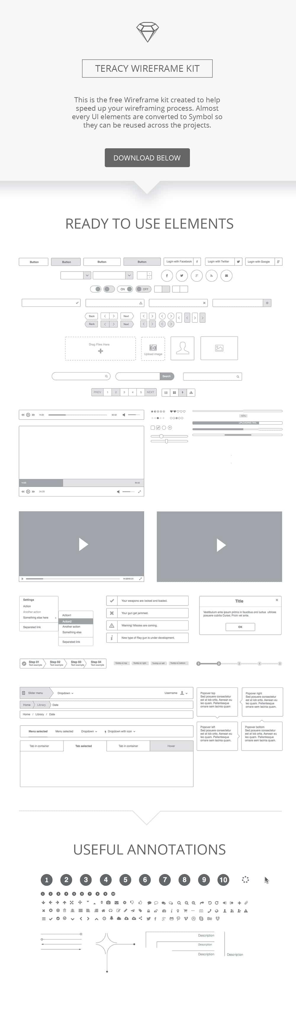 Teracy-Wireframe-kit