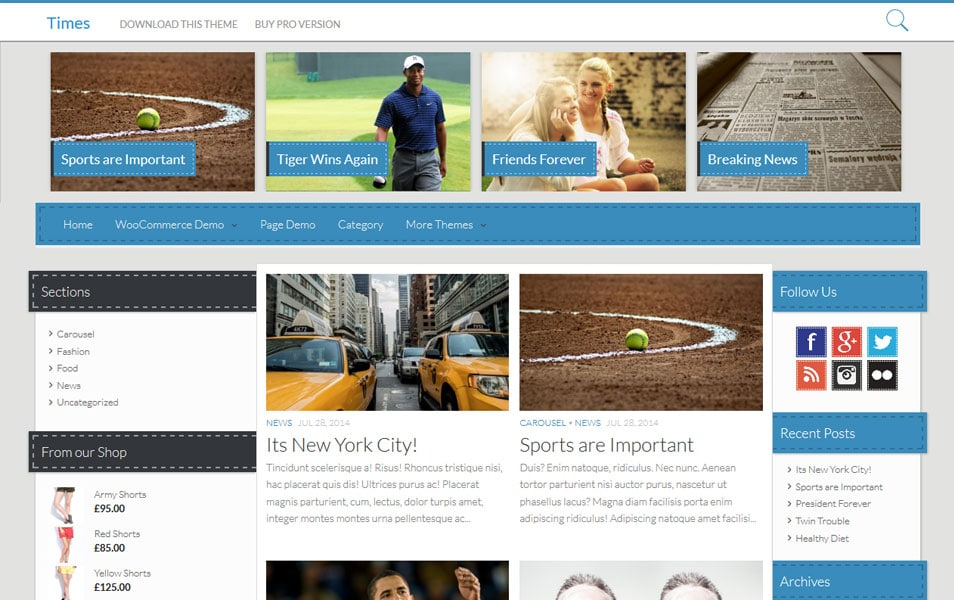 Times – News/Magazine WordPress Theme