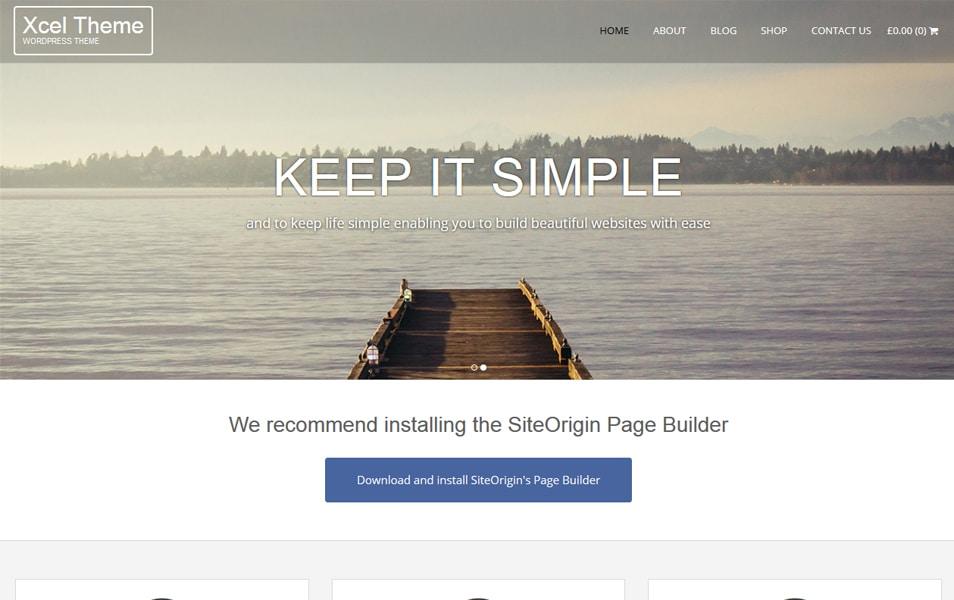 Xcel Responsive WordPress Theme