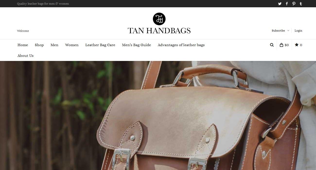 tan handbags