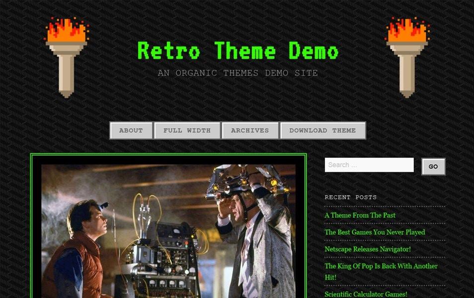 90s Retro Responsive WordPress Theme