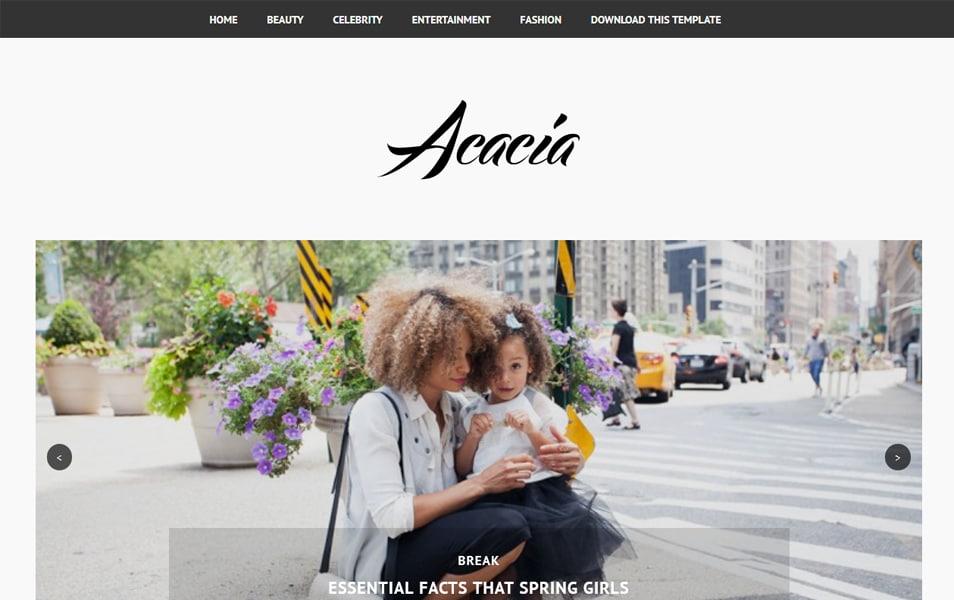 Acacia Minimal Responsive Blogger Template