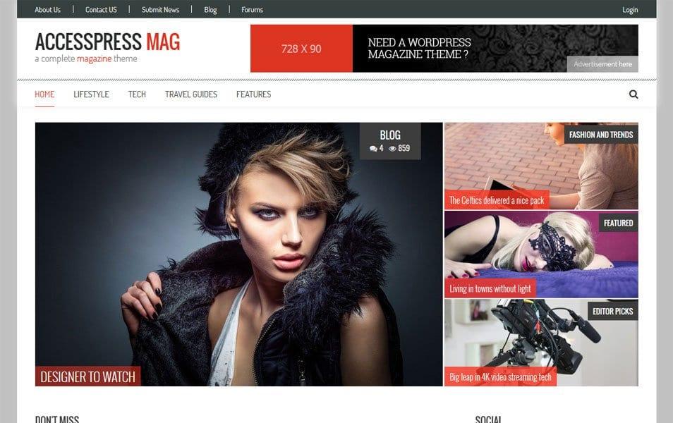 AccessPress Mag Responsive WordPress Theme