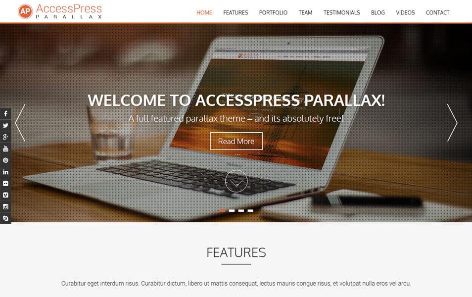 AccessPress Parallax Responsive WordPress Theme