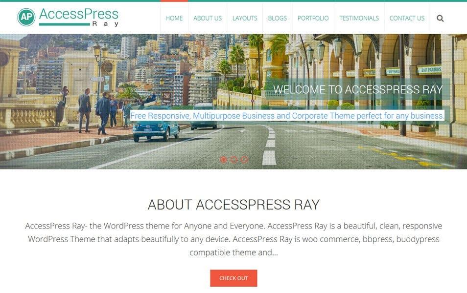 AccessPress Ray Responsive WordPress Theme