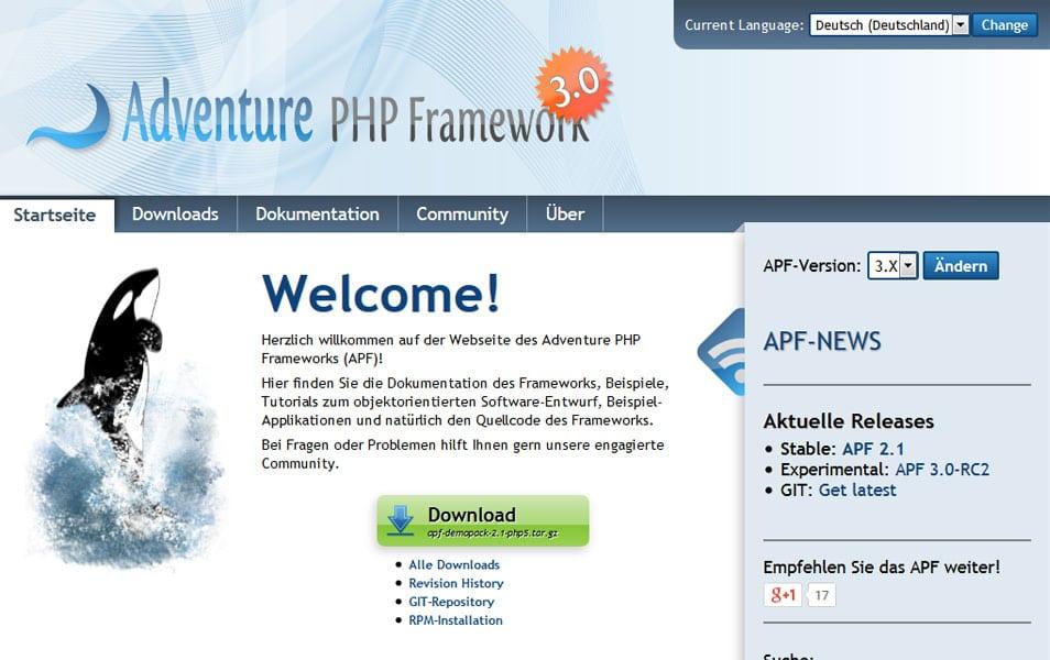 Adventure PHP Framework