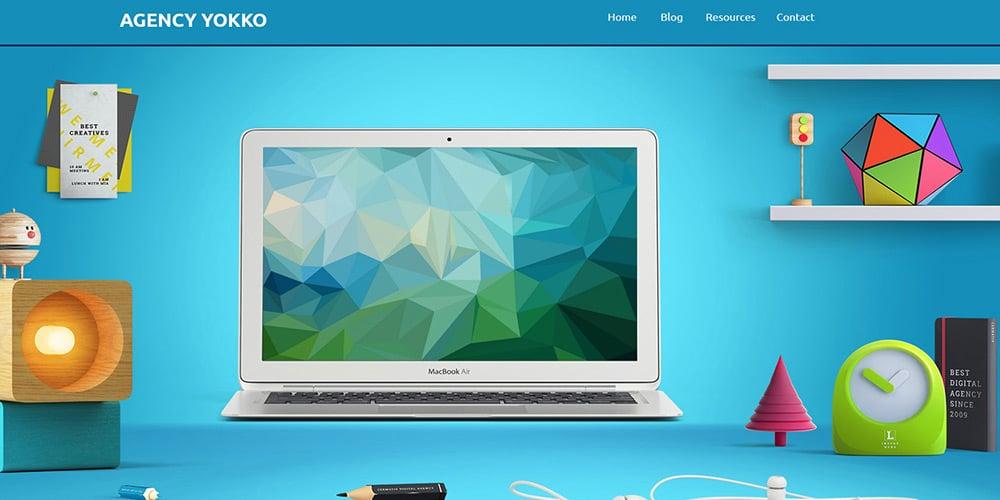 Agency Yokko Free Web Template PSD