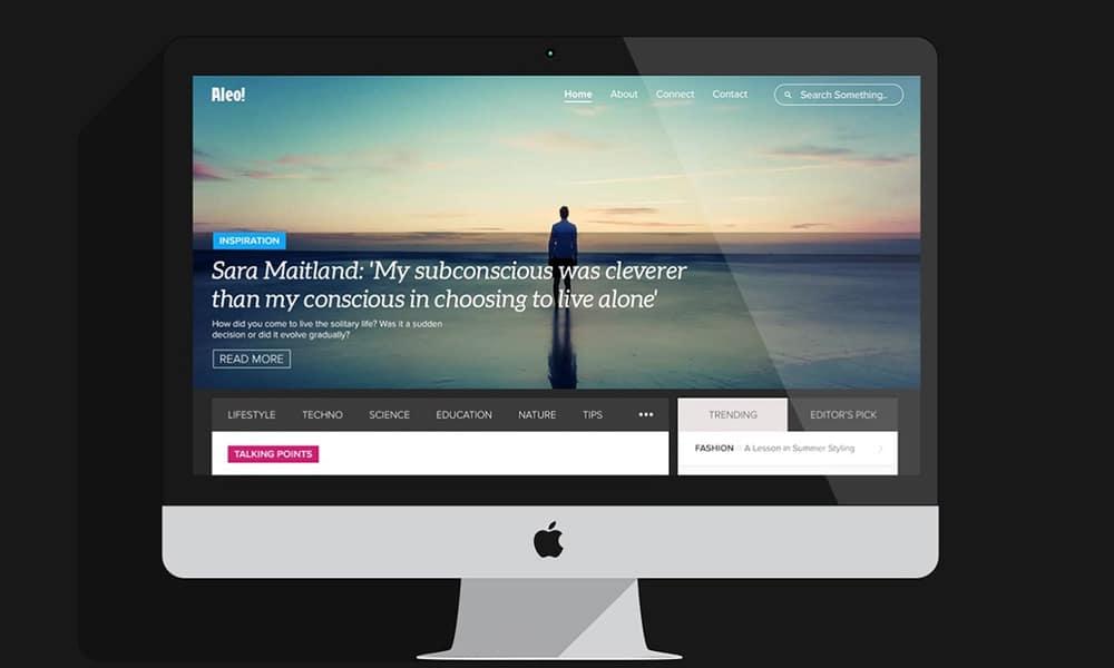 Aleo - Free Web Template PSD