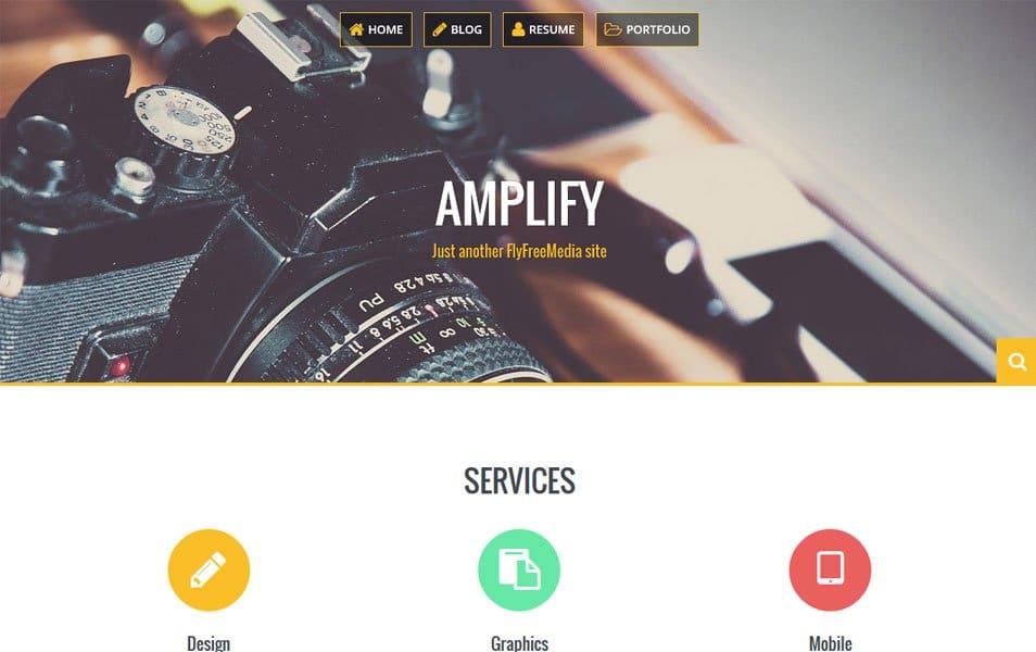 Amplify Responsive WordPress Theme