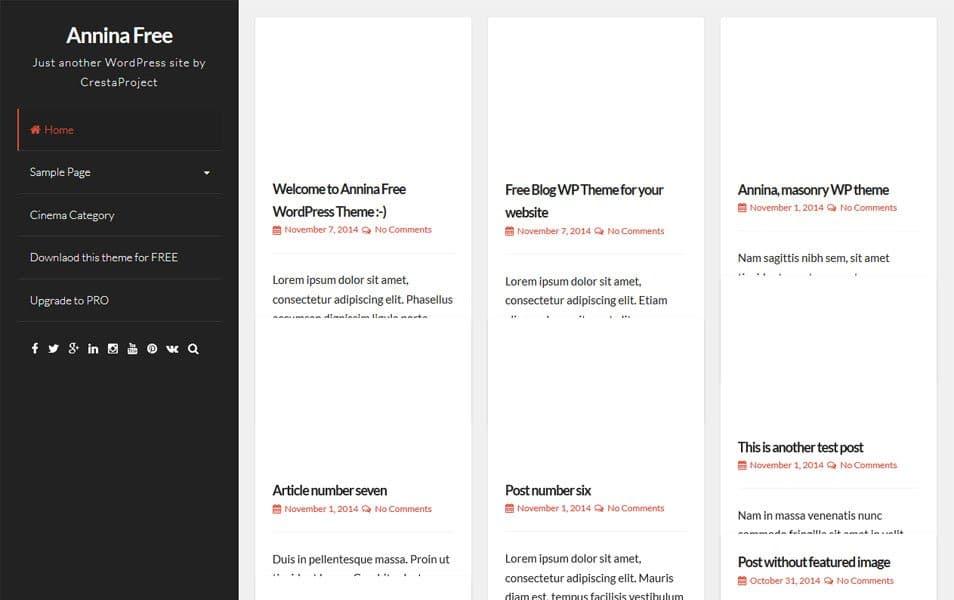 Annina Responsive WordPress Theme