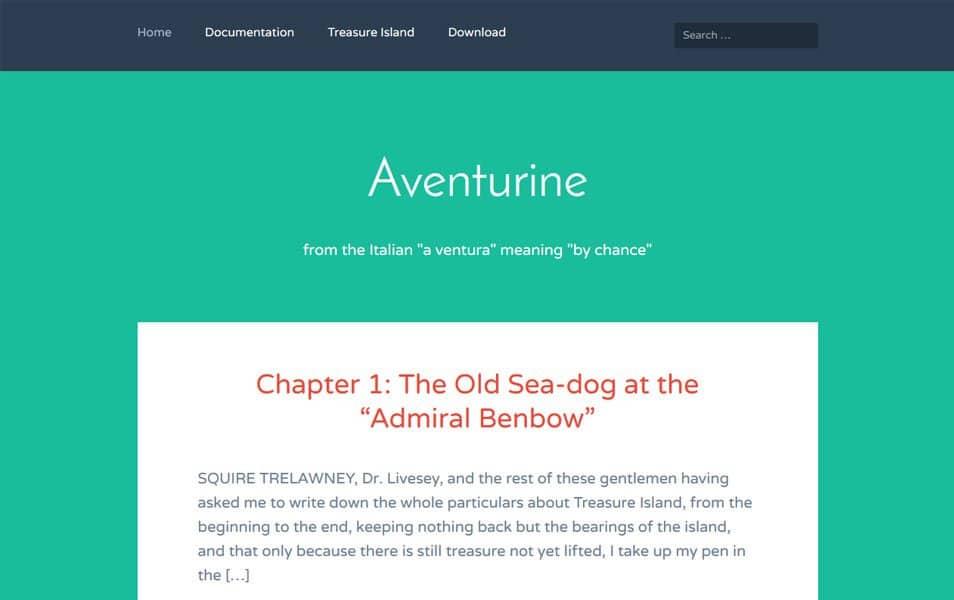 Aventurine Responsive WordPress Theme