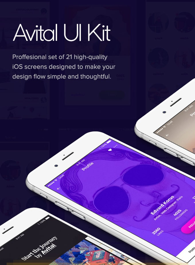 Avital Mobile UI Kit