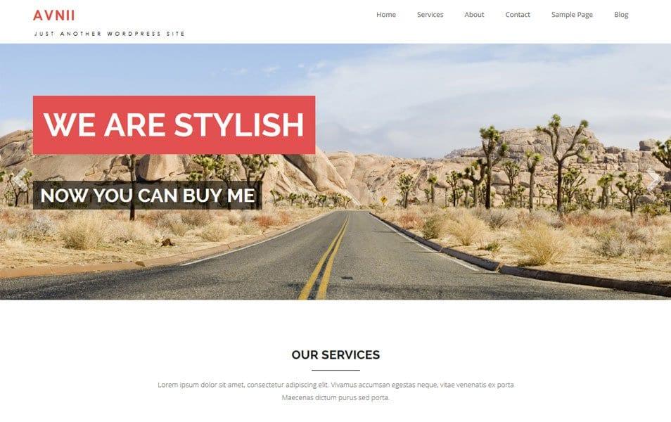 Avnii Responsive WordPress Theme