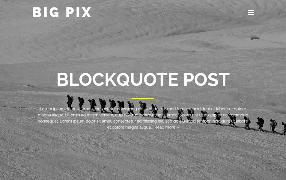 BIG PIX Responsive WordPress Theme