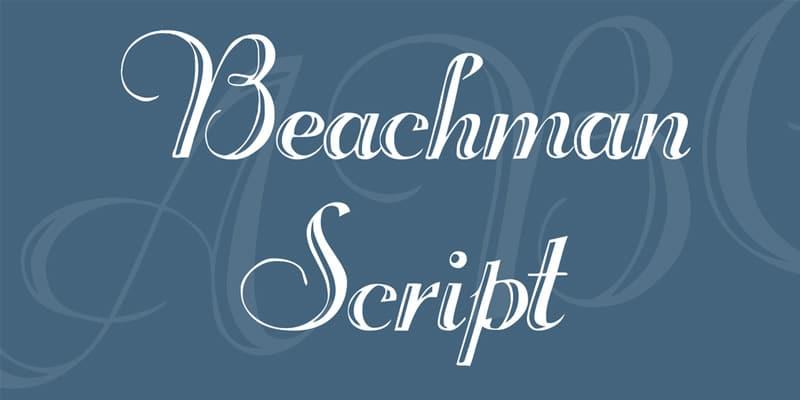 Beachman Script Font
