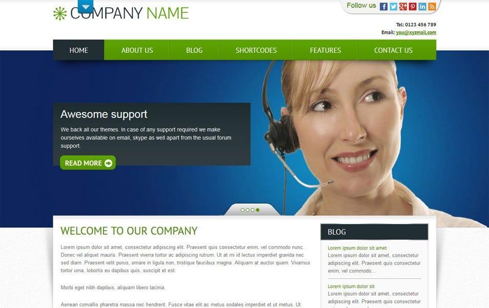 Bizness Responsive WordPress Theme