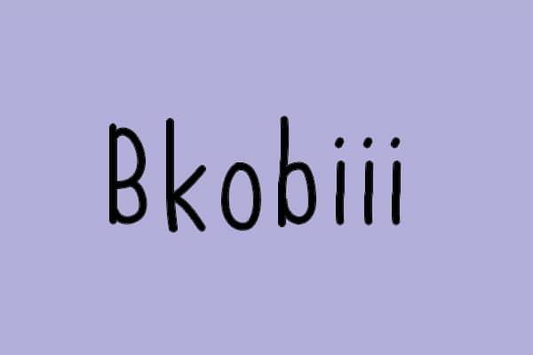 Bkobiii Font