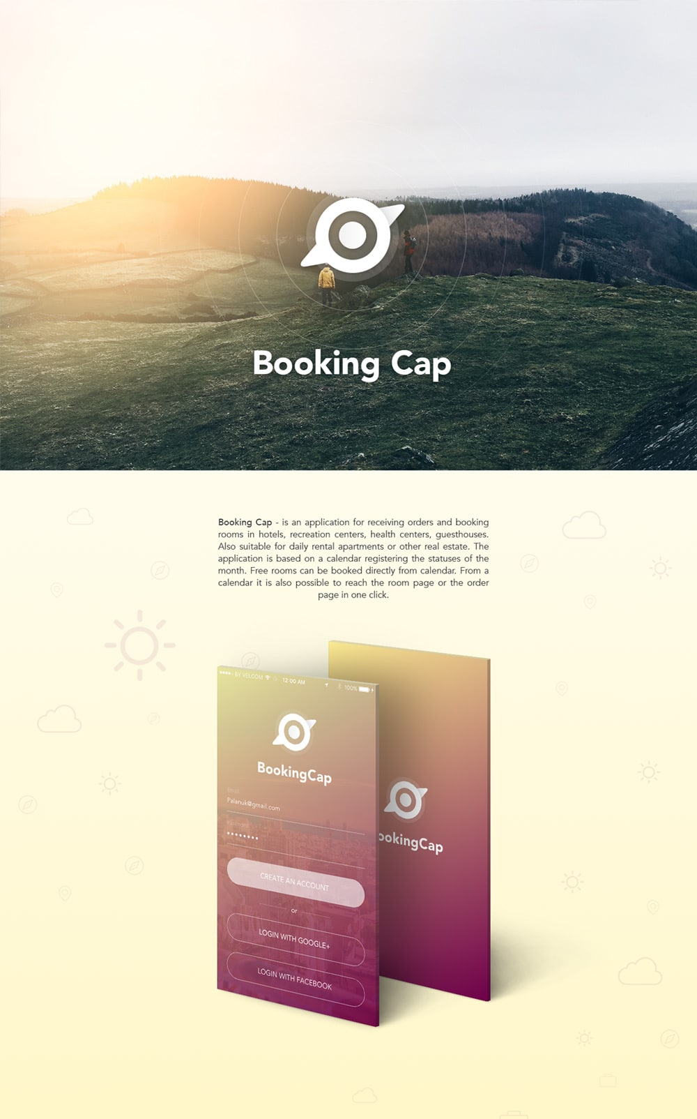 Booking Cap App UI Kit