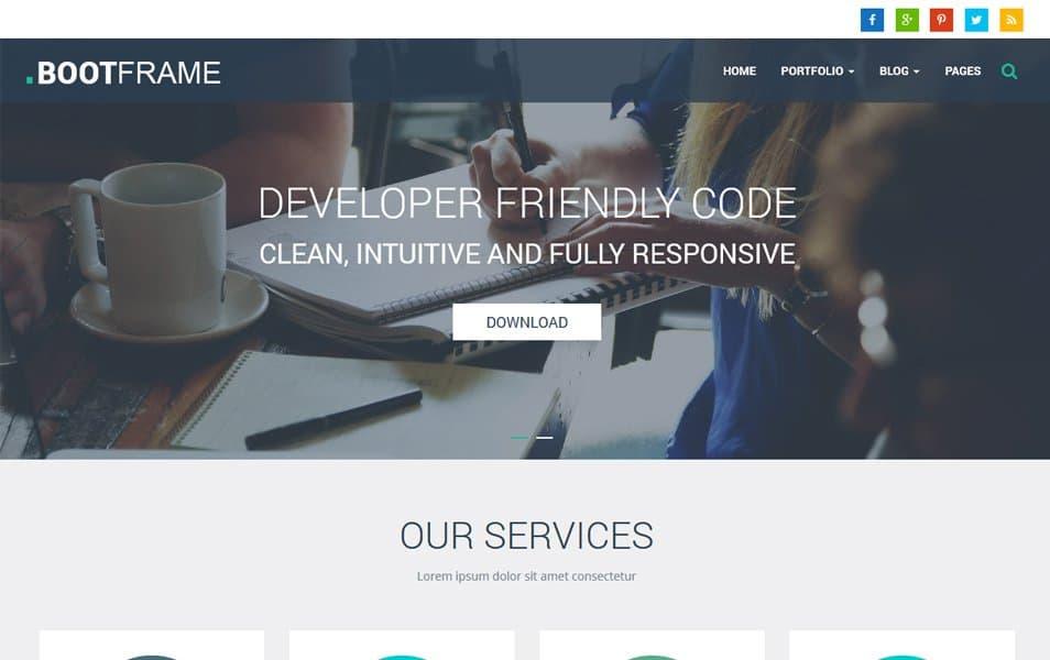 BootFrame Core Responsive WordPress Theme