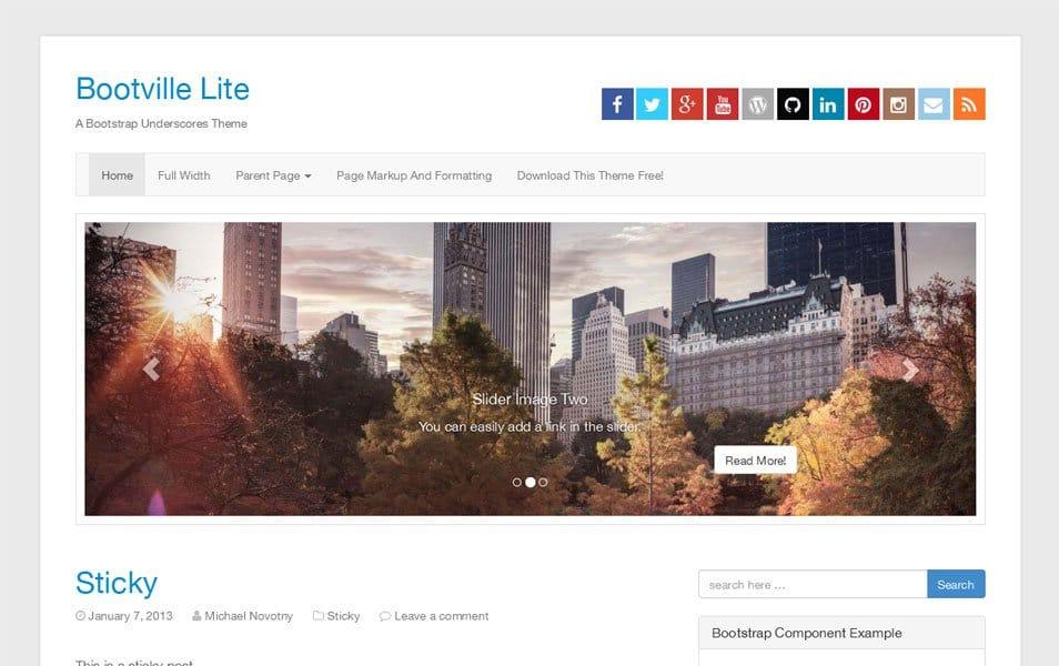Bootville Lite Responsive WordPress Theme