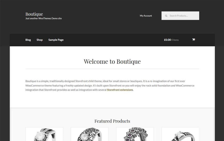 Boutique Responsive WordPress Theme