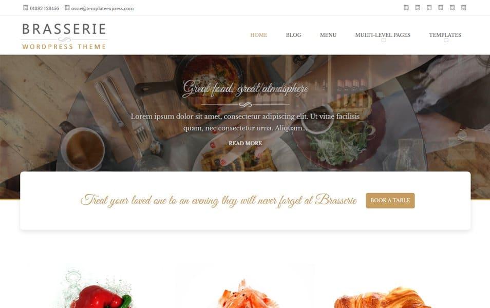 Brasserie Responsive WordPress Theme