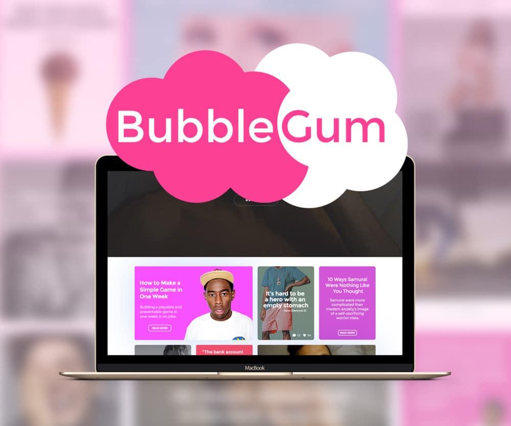 BubbleGum Free UI Kit PSD