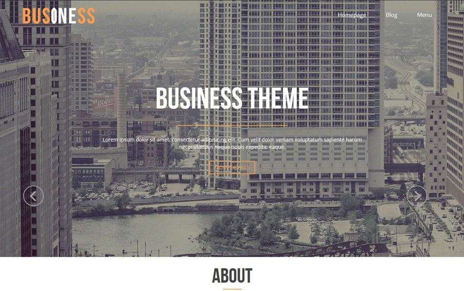 Business One Responsive WordPress Theme
