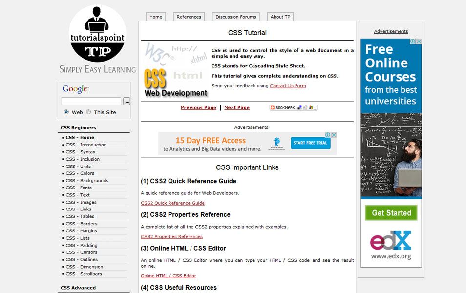CSS Tutorial - TutorialsPoint