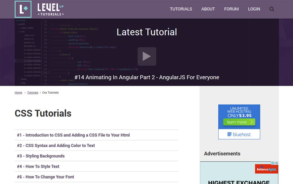 CSS Tutorials | Level Up Tutorials