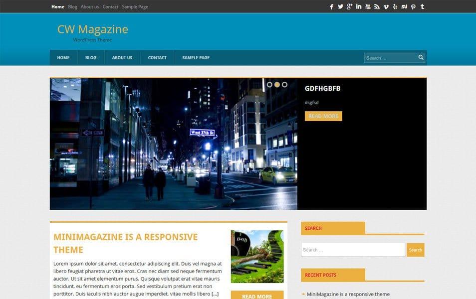 CW Magazine Responsive WordPress Theme