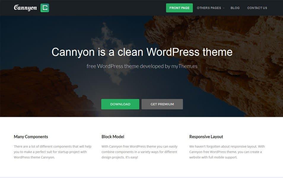 Cannyon Responsive WordPress Theme