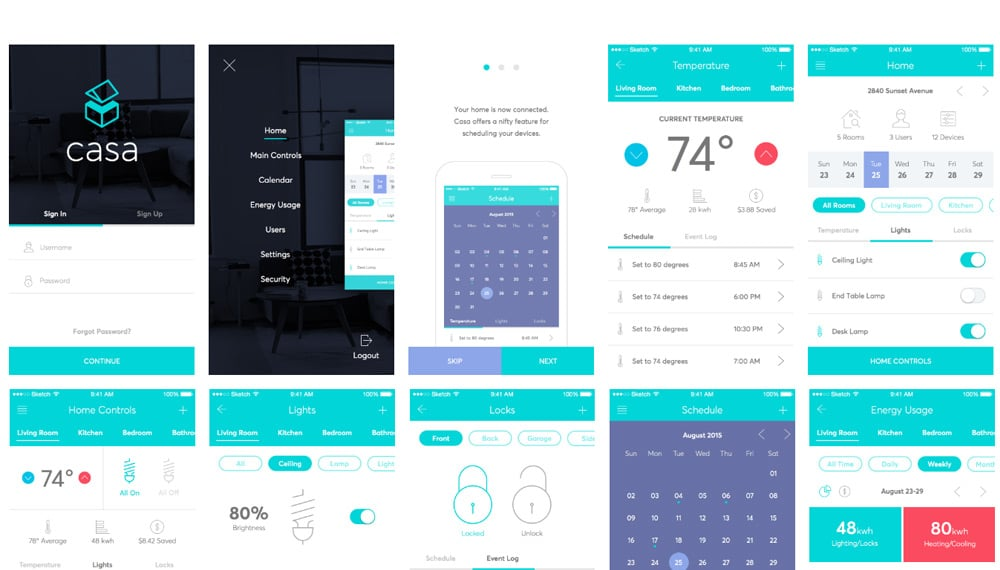 Casa - Free Sketch UI Kit