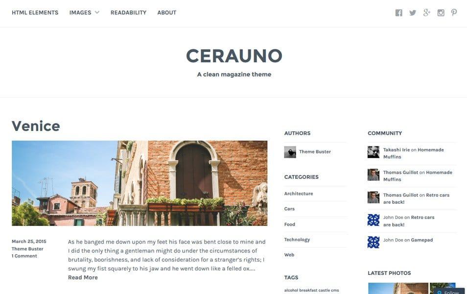 Cerauno Responsive WordPress Theme