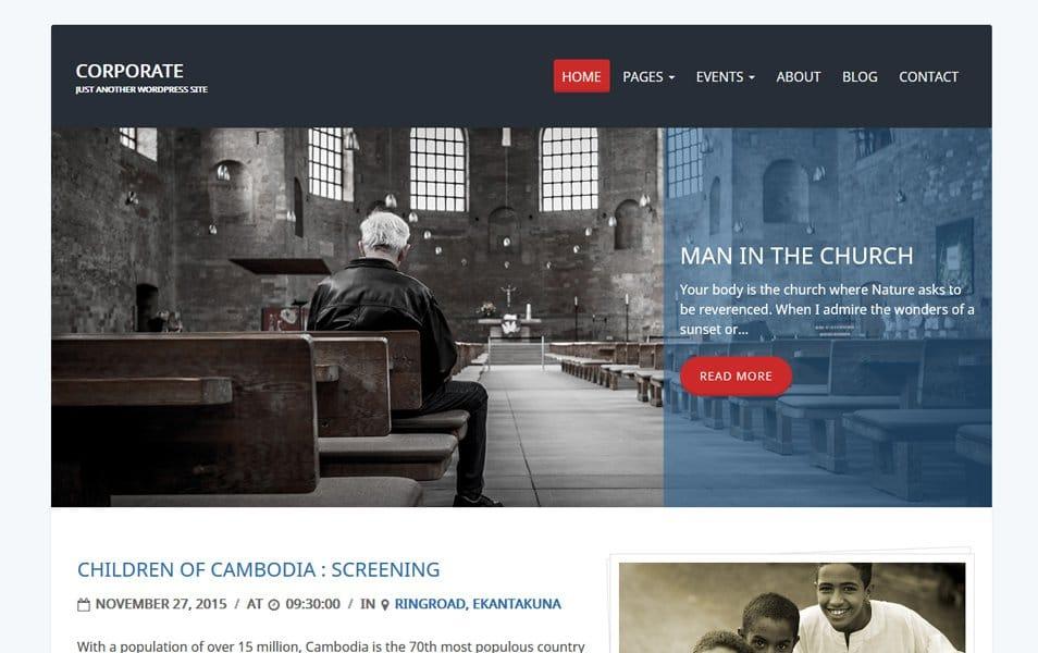 Charity Review Responsive WordPress Theme