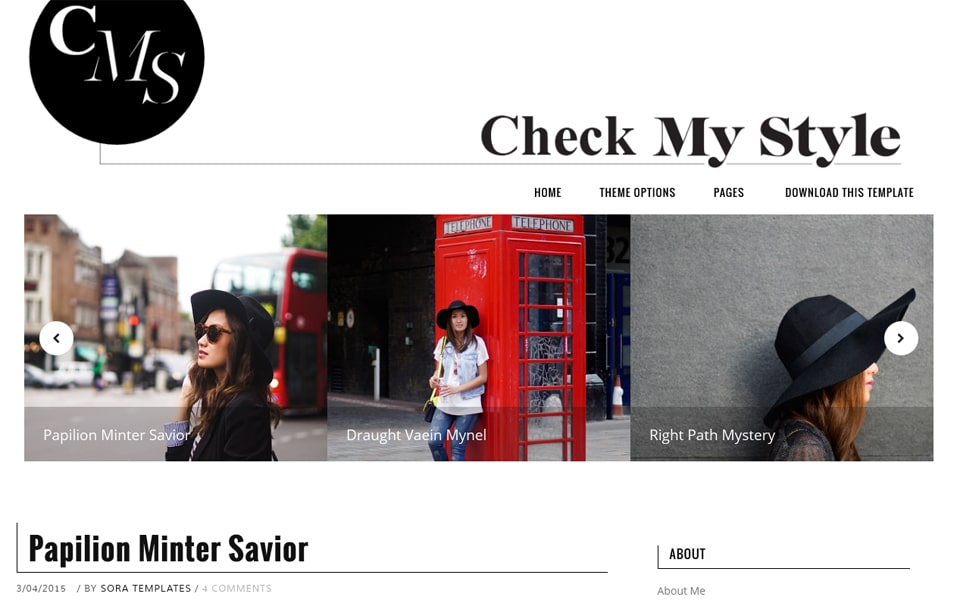 Check My Style Responsive Blogger Template
