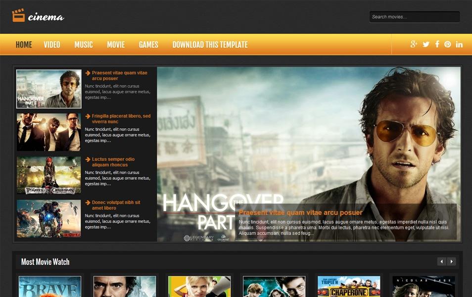 Cinema Responsive Blogger Template