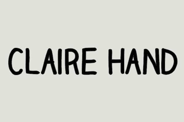 Claire Hand Font