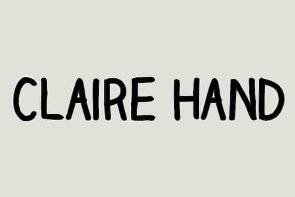 Claire Hand Font