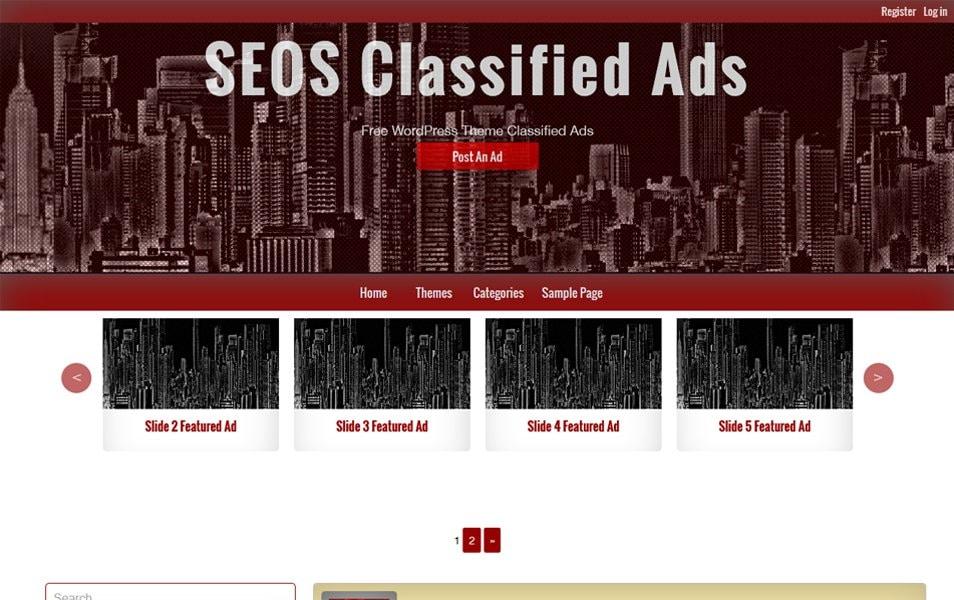 Classified Ads Responsive WordPress Theme