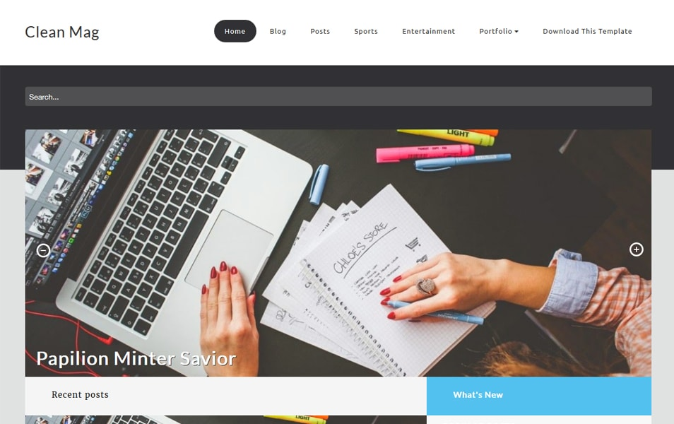 Clean Mag Responsive Blogger Template