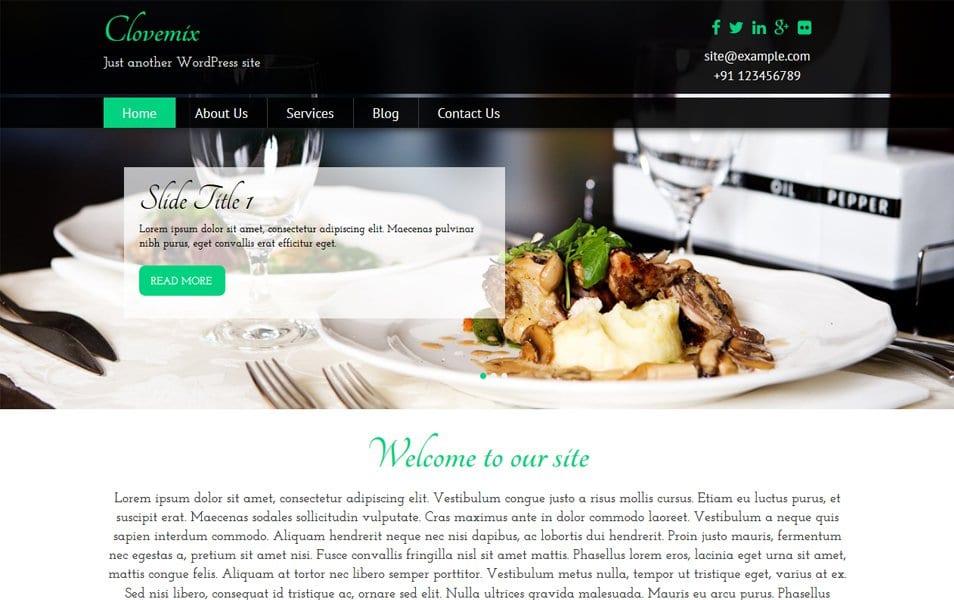 Clovemix Restaurant WordPress Theme