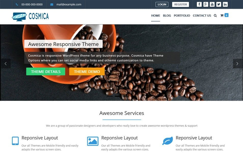 Cosmica Responsive WordPress Theme