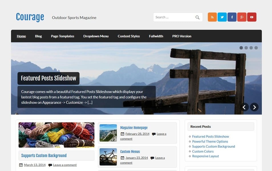 Courage Responsive WordPress Theme